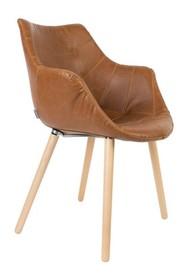 Krzesło TWELVE VINTAGE brązowe  Materiał: Tapicerka: ekoskóra Podstawa: nogi drewniane - bukowe  Wymiary: Szerokość: 60 cm Głębokość: 60 cm...