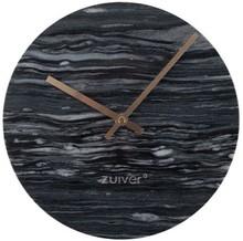 Zegar MARBLE TIME szary Wymiary: 25x25x4,5 cm  Materiał: ceramika, aluminiowe wskazówki w kolorze złotym Baterie: 1xAA (nie dołączone)