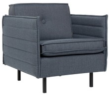 Fotel JAEY - szaroniebieski