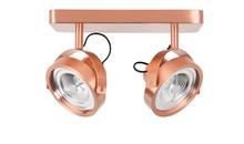 Spotlight DICE-2 LED miedziany, egulowany we wszystkich kierunkach  Materiał: podstawa stalowa, miedź  Wymiary: 13,3 x 12 cm (D x Ø) Wymiary podstawy:...