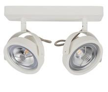 Spotlight DICE-2 LED biały, regulowany we wszystkich kierunkach  Materiał: podstawa stalowa, biało lakierowana  Wymiary: 13,3 x 12 cm (D x Ø) Wymiary...