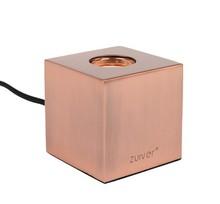 Lampa stołowa BOLCH miedziana  Wymiary: 8,5x8,5x8,5cm Czarny kabel z teksturą na włącznik / wyłącznik  Źródło światła: E27, max. 40 watowa...