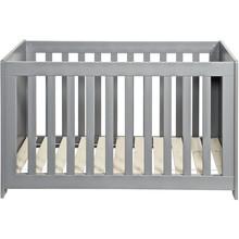 Łóżeczko dziecięce szare szczotkowane 60x120cm