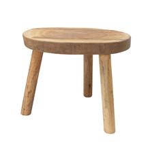 Stolik w kształcie pnia drewna L naturalny