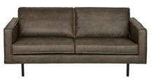 Sofa RODEO zielona  Wymiary:  - Wysokość: 85 cm - Szerokość: 190 cm - Głębokość: 86 cm  Materiał:  - 70% skóry z recyklingu i 30% poliester