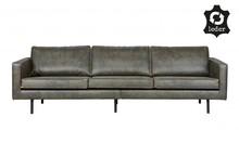Sofa RODEO zielona duża  Wymiary:  - Wysokość: 85 cm - Szerokość: 277 cm - Głębokość: 86 cm  Materiał:  - 70% skóry z recyklingu i 30%...