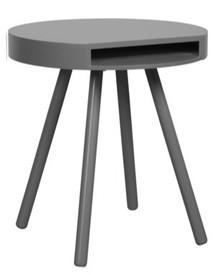 Stolik HIDE & SEEK marki Zuiver w kolorze szarym.Posiada wygodną kieszeń pod blatem, idealną na pocztę lub gazety.  Materiał:Blat...