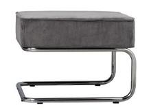 Podnóżek Ridge RIB  Materiał: Obicie stołka wykonane z materiału podobnego do filcu (88%nylon, 12% polyester) w kolorze chłodnym szarym. Rama metalowa...