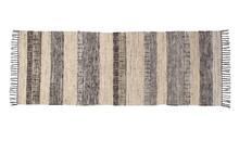 Dywan FOX o wymiarach 80 x 200 cm  Ręcznie tkany dywan z czarnymi bawełnianymi frędzlami. Materiał: 50% wełna, 30% jedwab z odzysku, 20% bawełna