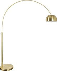 Lampa podłogowa BOW w kolorze mosiężnym  Wymiary: 39x170x190/205 Abażur: 32x20 cm (Ø x H) Podstawa: Ø 39 cm