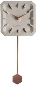 Zegar betonowy TIK TAK z miedzianymi elementami  Wymiary: 15,5x37,5x4 cm Baterie: 1xAA (nie dołączone)