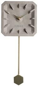 Zegar betonowy TIKTAK z mosiężnymi elementami  Wymiary: 15,5x37,5x4 cm Baterie: 1xAA (nie dołączone)