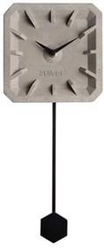 Zegar betonowy TIKTAK z czarnymi elementami  Wymiary: 15,5x37,5x4 cm Baterie: 1xAA (brak w zestawie)