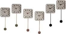 Zegar betonowy TIK TAK (zestaw 6 sztuk)  Wymiary pojedynczego zegara: 15,5x37,5x4 cm Baterie: 1xAA (nie dołączone)