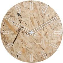 Zegar OSB TIME biały z pomarańczowymi wskazówkami  Wymiary: 50 x 4,5 cm (ØxH) Baterie: 1xAA (nie dołączone)