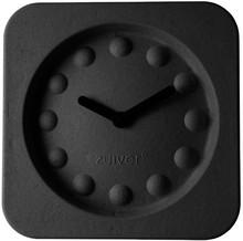 Zegar PULP TIME kwadratowy czarny  Wymiary: 36 x 36 x 7 cm Baterie: 1xAA (nie dołączone) Materiał: 100% papier pochodzący z recyklingu