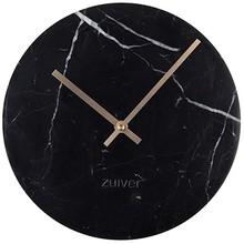 Zegar MARBLE TIME czarny Wymiary: 25x25x4,5 cm  Materiał: ceramika, aluminiowe wskazówki w kolorze złotym  Baterie: 1xAA (nie dołączone)