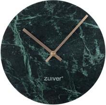 Zegar MARBLE TIME zielony Wymiary: 25x25x4,5 cm  Materiał: ceramika, aluminiowe wskazówki w kolorze złotym Baterie: 1xAA (nie dołączone)