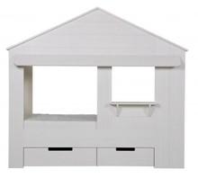 Szuflady do łóżka HUISIE  Kolor:  - Biały  Wymiary:  - 23x84 / 66 x 92 cm  Materiał:  - Drewno sosnowe