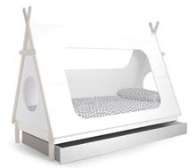 Szuflada do łóżka Tipi  Kolor:  - Biały  Wymiary:  - Wysokość: 16 cm - Szerokość: 204.8 cm - Głębokość: 95 cm  Materiał:  - Drewno...