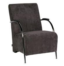 Fotel sztruksowy - antracytowy