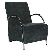 Fotel sztruksowy - niebieski