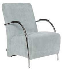 Fotel sztruksowy błękitny - Woood