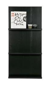 Wiszące półki pokazowe w kolorze czarnym  Kolor:  - Czarny  Wymiary:  - Wysokość: 120 cm - Szerokość: 56 cm - Głębokość: 10 cm ...