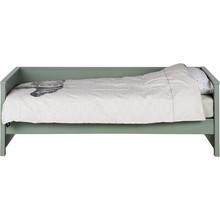 Łóżko z oparciem NIKKI oliwkowe  Kolor:  - Oliwkowy  Wymiary:  - Wysokość: 73 cm - Szerokość: 100 cm - Głębokość: 208 cm  Materiał:  -...