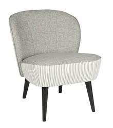 Fotel SARA w paski  Kolor:  - Szary  Wymiary:  - Wysokość: 70 cm - Szerokość: 59 cm - Głębokość: 71 cm  Materiał:  - Tkanina  Fotel...