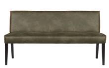 Ława Rodeo, kolor wojskowa zieleń  Wymiary:  - Wysokość: 83 cm - Szerokość: 156 cm - Głębokość: 61 cm  Materiał:  - 70% skóry z recyklingu...