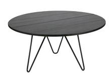 Okrągły dębowy stolik - czarny