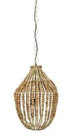 Lampa wisząca duża żyrandol z drewnianych koralików  Lampa wisząca duża żyrandol z drewnianych koralików  Wymiary:  - Wysokość: 54...