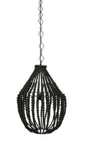 Lampa wisząca duża żyrandol z drewnianych koralików czarna  Lampa wisząca duża żyrandol z drewnianych koralików czarna  Wymiary:  - Wysokość:...