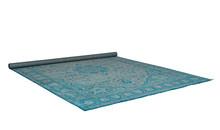 Dywan CHI niebieski marki White Label Living to dywan tkany maszynowo.  Materiał: 85% wiskozy, 15% poliestru Podkład z kauczuku syntetycznego,...