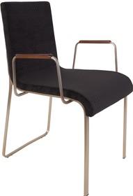 Fotel z podłokietnikami FLOR - czarny