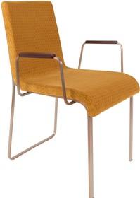 Fotel z podłokietnikami FLOR - żółty