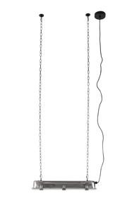 Lampa wisząca G.T.A. niklowa, rozmiar L marki Zuiver  Materiał: Niklowany odcień, malowany proszkowo z hartowanego szkła, folia PET pomiędzy nimi...