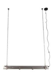 Lampa wisząca G.T.A. niklowa, rozmiar XL marki Zuiver  Materiał: Niklowany odcień, malowany proszkowo z hartowanego szkła, folia PET pomiędzy nimi...