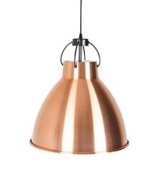 Lampa wisząca DELIVING miedziana marki Zuiver  Materiał: Metalowy klosz, wykończony na zewnątrz miedziany, wewnątrz biały matowy. Kabel z tekstury z...