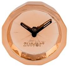Zegar BINK TIME miedziany marki Zuiver  Zegar stołowy z poliresingu o wyglądzie miedzianym  Wymiary: 10,5x4 cm  Baterie 1x AA (nie dołączone)