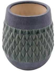 Wazon NITO rozmiar M marki Zuiver  Szary ceramiczny wazon ze szkliwionym diamentowym wzorem  Wymiary:19 x 23 cm (Ø x H), Otwór: 12 cm Ø