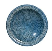 Misa kamionkowa w stylu marokańskim E marki HK LivingRęcznie malowana w niebieskie wzoryWymiary: 22x22x6cmKolor: niebieski, błękitnyMateriał:...
