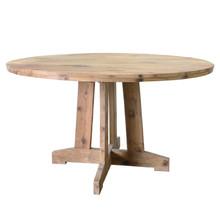 Okrągły stół z drewna tekowego