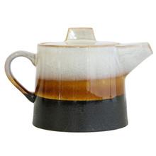 Ceramiczny dzbanek do herbatyw stylu lat 70-tych. Wymiary: 22,5x14x14 cm  Dzbanek można myć w zmywarce.