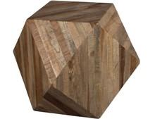 Stolik kawowy GEO  Materiał: Wtórne części z drewna tekowego na bazie płyty MDF, naturalnie lakierowane Maksymalne obciążenie waga: 30 kg  Wymiary:...