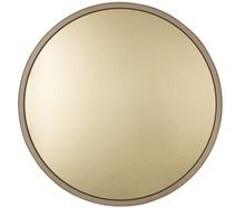 Lustro BANDIT złote marki Zuiver  Szkło lusterka barwione na kolor mosiądz.  Wymiary: 60x5 cm  W ofercie dostępne również miedziane lustro.