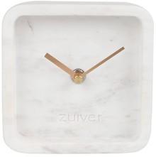 Zegar LUXURY TIME marmurowy biały  Wskazówki aluminiowe malowane na kolor mosiężny  Wymiary: 13 x 6 x 13 cm Baterie: 1xAA (nie dołączone) ...