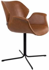 Fotel NIKKI - brązowy