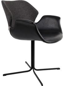 Fotel NIKKI - czarno-ciemnoszary
